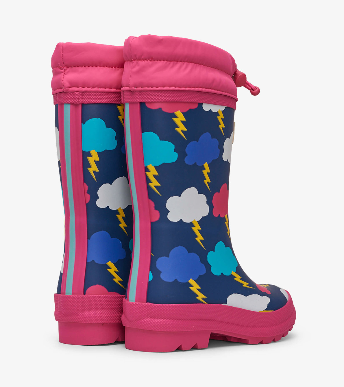 View larger image of Lightning Clouds Sherpa Lined Rain Boots