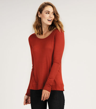 Lily Crew Neck Top - Madder Root