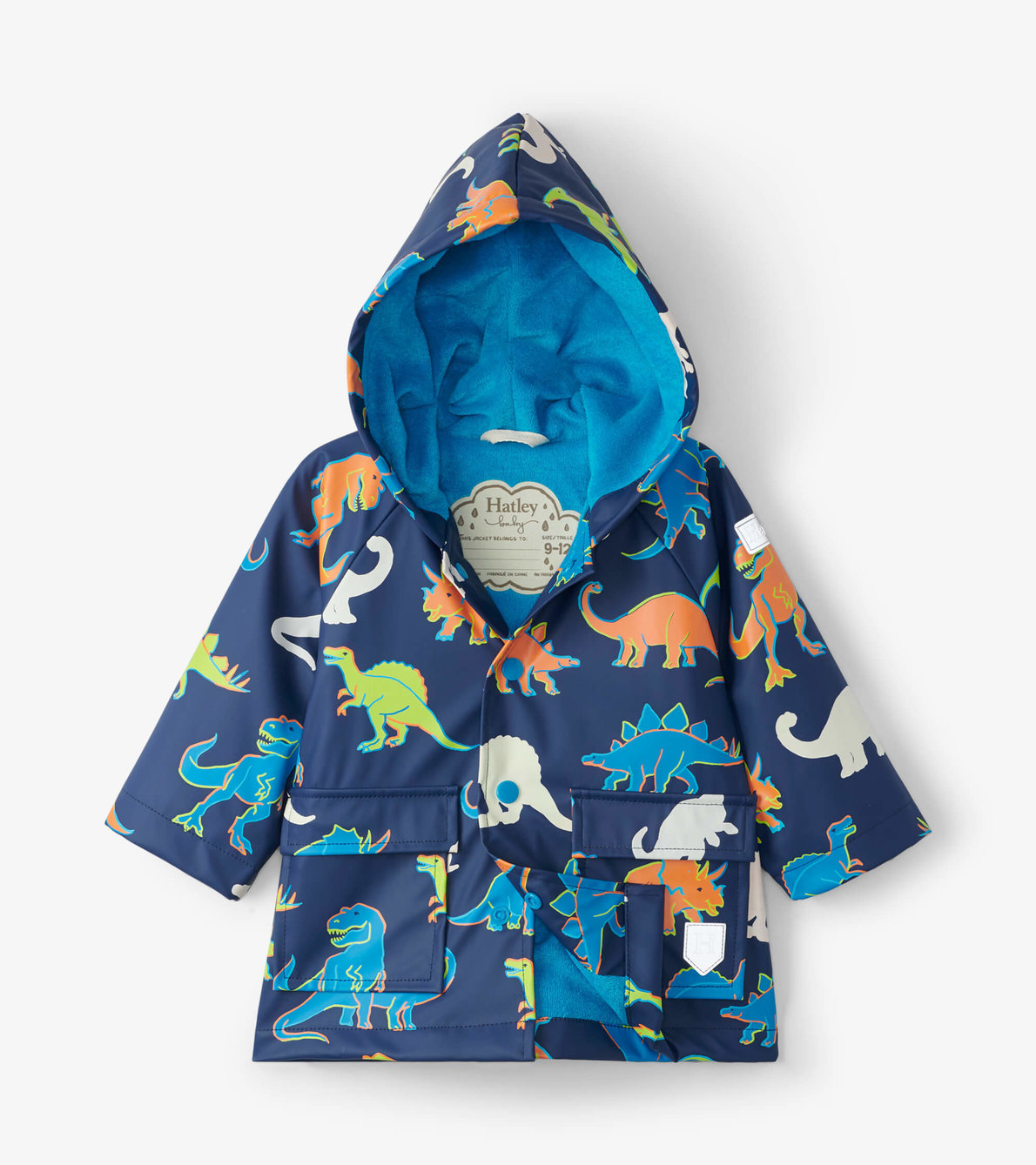 View larger image of Linework Dinos Colour Changing Baby Raincoat