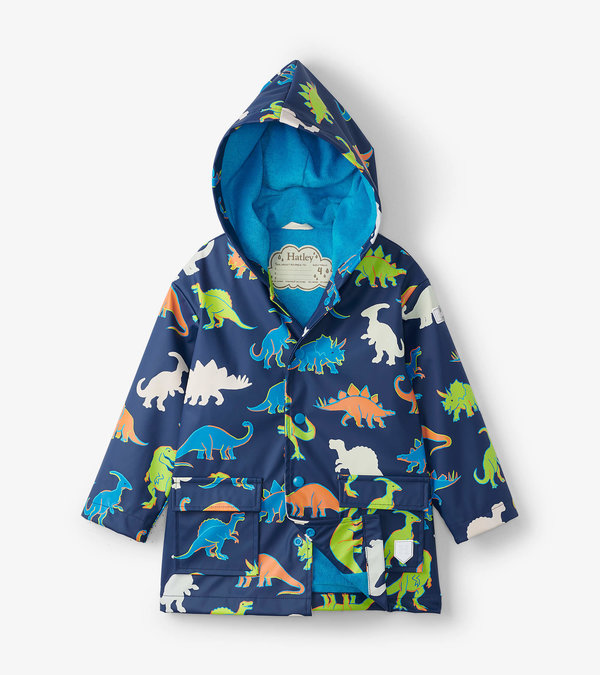 Linework Dinos Colour Changing Raincoat