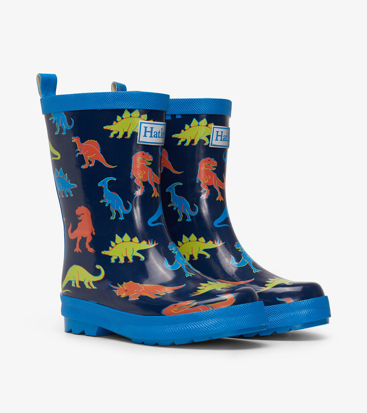 View larger image of Linework Dinos Shiny Rain Boots