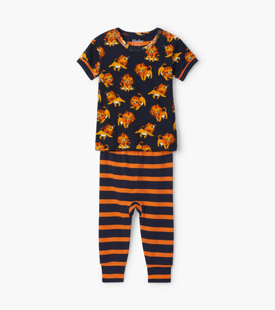 Little Cubs Organic Cotton Baby Short Sleeve Pajama Set