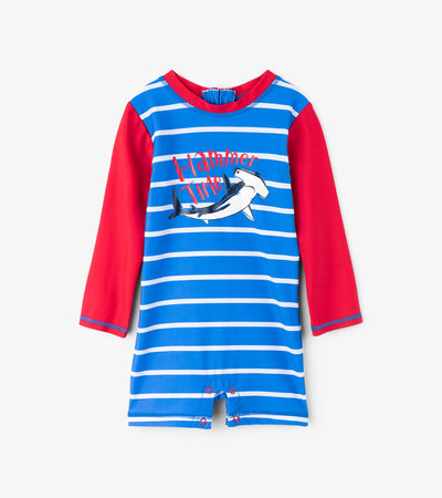 Loop-The-Looping Hammerheads Baby Rashguard One-Piece