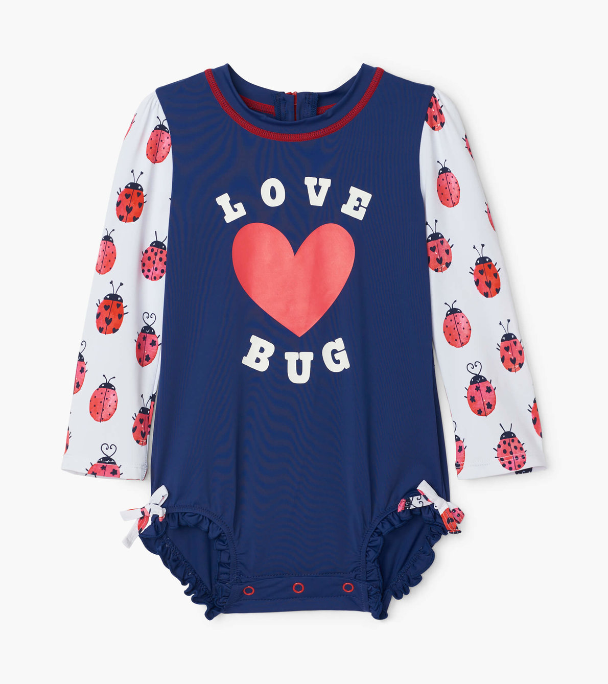 View larger image of Love Bugs Baby Rashguard Swimsuit