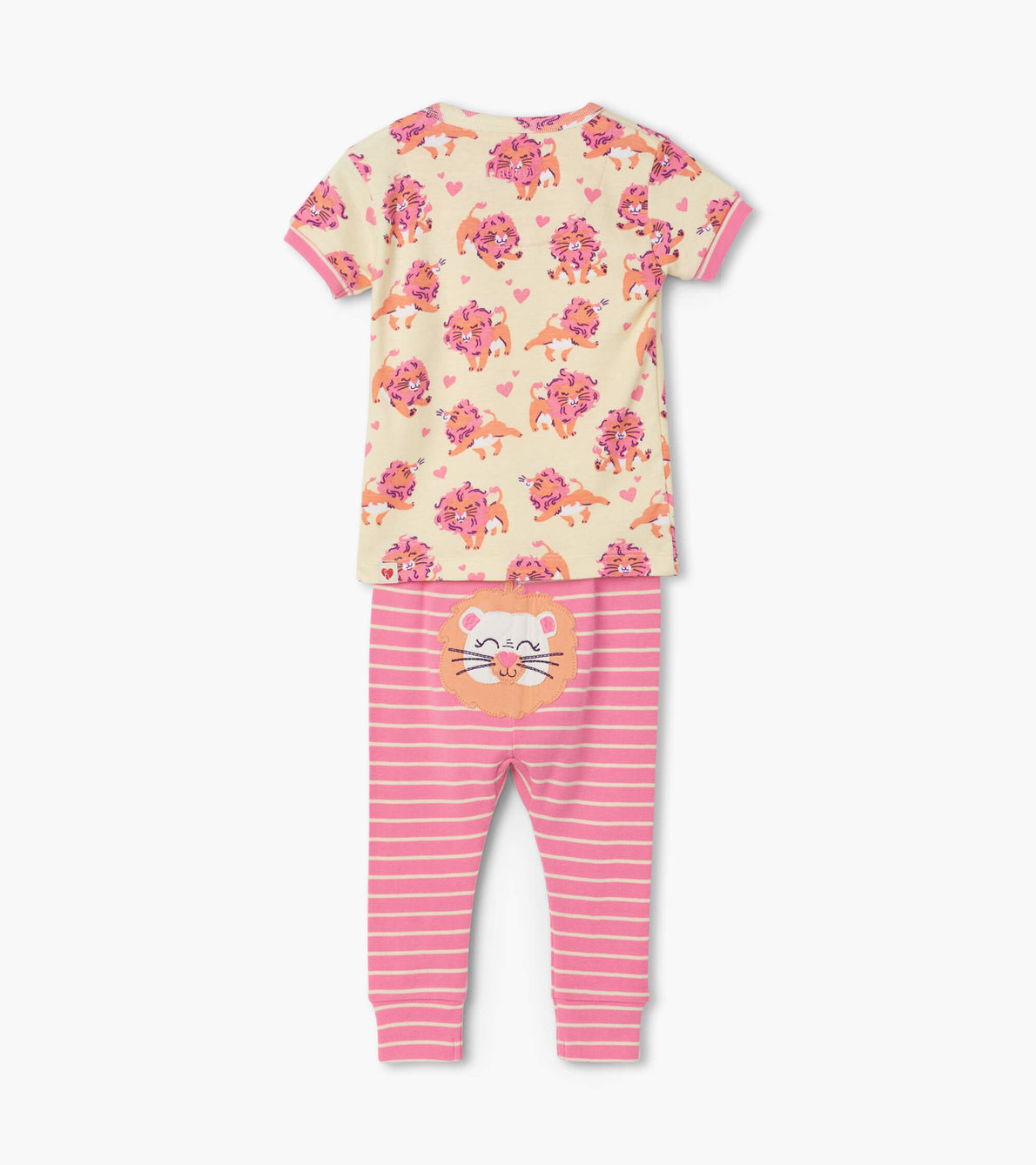 View larger image of Lovely Lions Organic Cotton Baby Short Sleeve Pajama Set