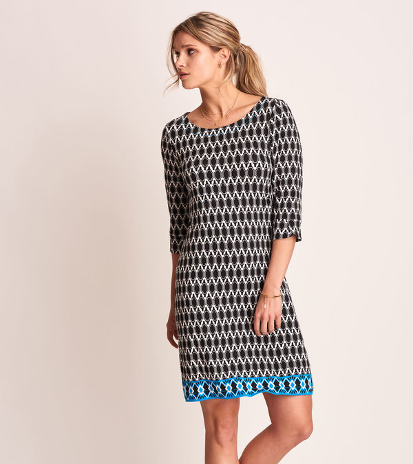 Lucy Dress - Black Mosaic