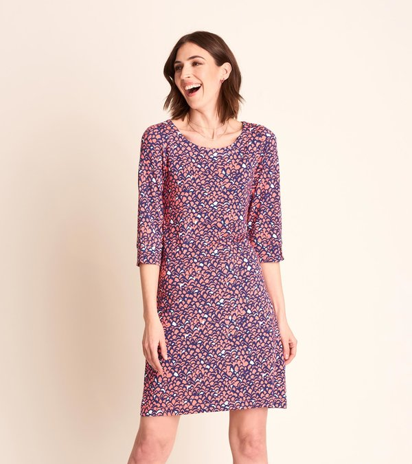 Lucy Dress - Feather Tips