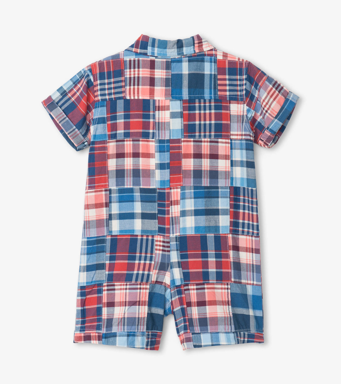 View larger image of Madras Plaid Baby Woven Romper