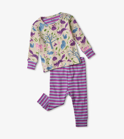 Magical Forest Organic Cotton Baby Pajama Set