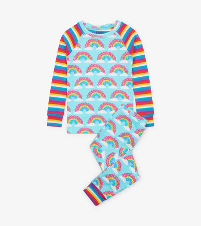 Magical Rainbows Organic Cotton Raglan Pajama Set