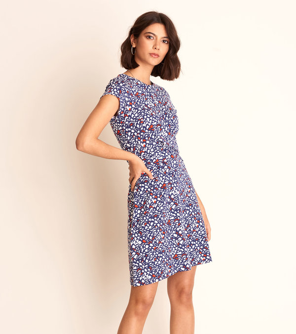 Martine Dress - Feather Tips