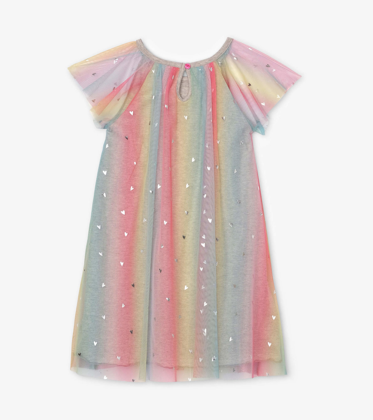 View larger image of Metallic Hearts Rainbow Tulle Dress