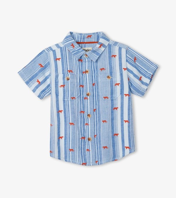 Mini Jungle Cats Baby Button Down Shirt