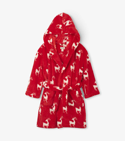 Mistletoe Deer Kids' Fleece Robe