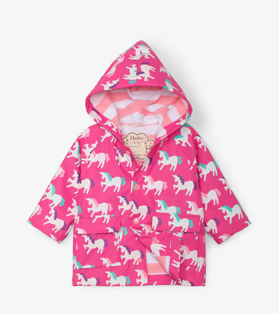 Mystical Unicorns Colour Changing Baby Raincoat