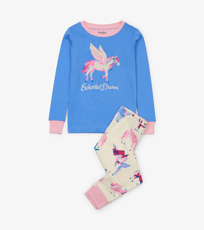 Mystical Unicorns Organic Cotton Applique Pajama Set
