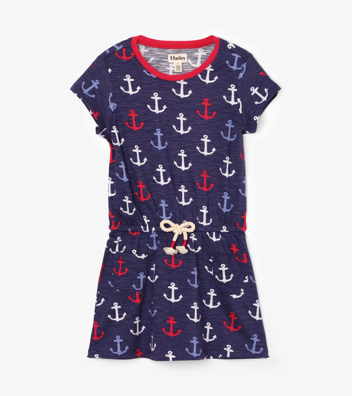 View larger image of Nautical Anchors Front Pocket Drop Waist Dress