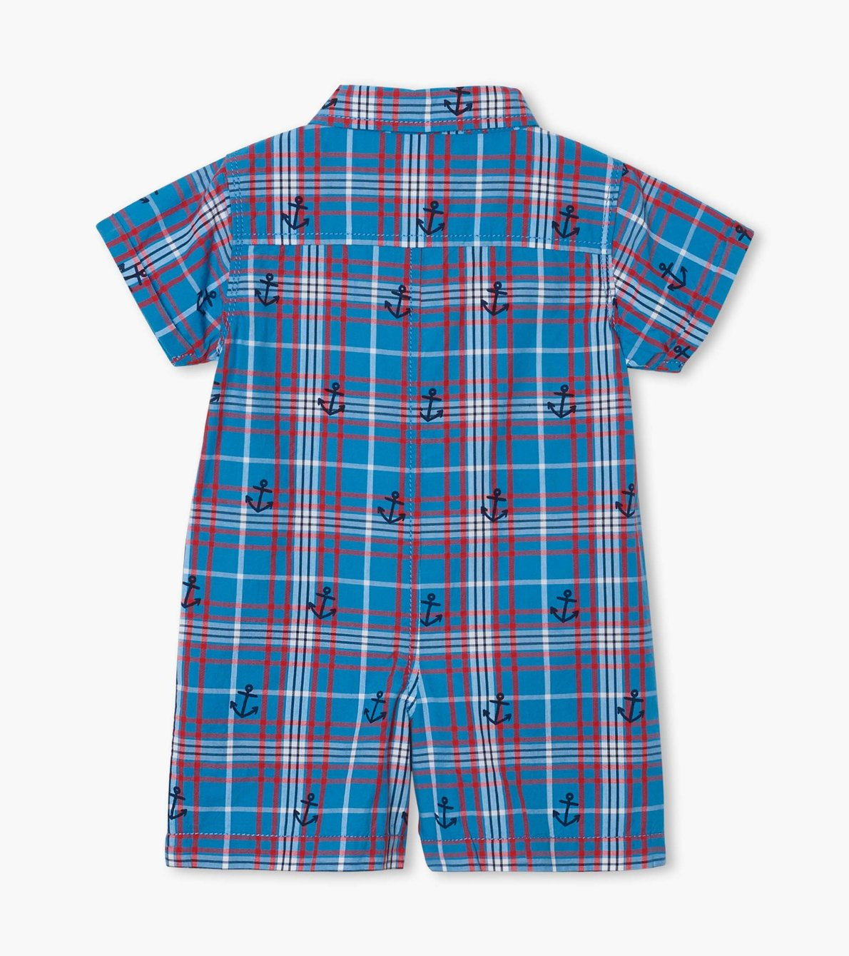 View larger image of Nautical Plaid Baby Woven Romper
