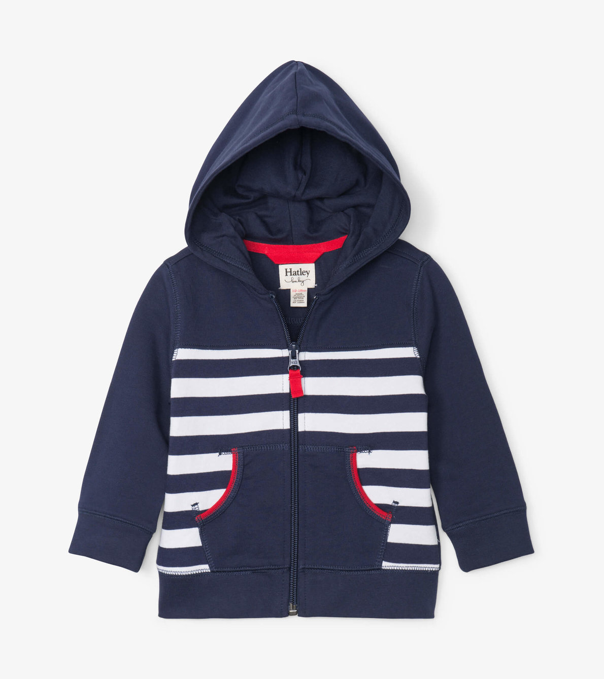 View larger image of Nautical Stripe Baby Hoodie