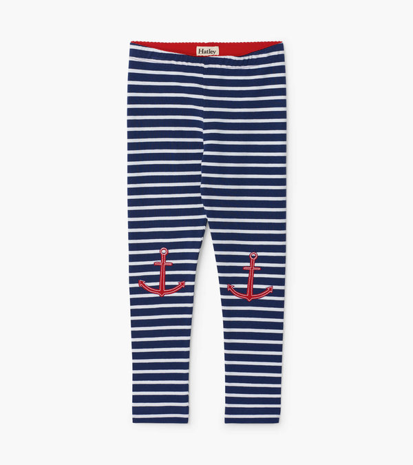 Nautical Stripe Leggings