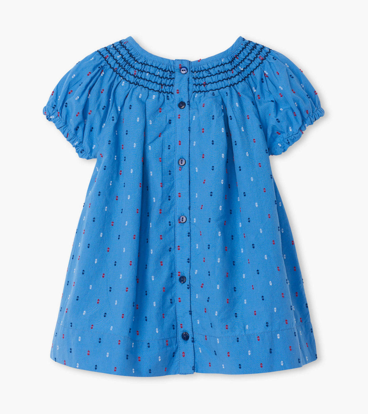 View larger image of Nautical Swiss Dots Baby Smocked Dress