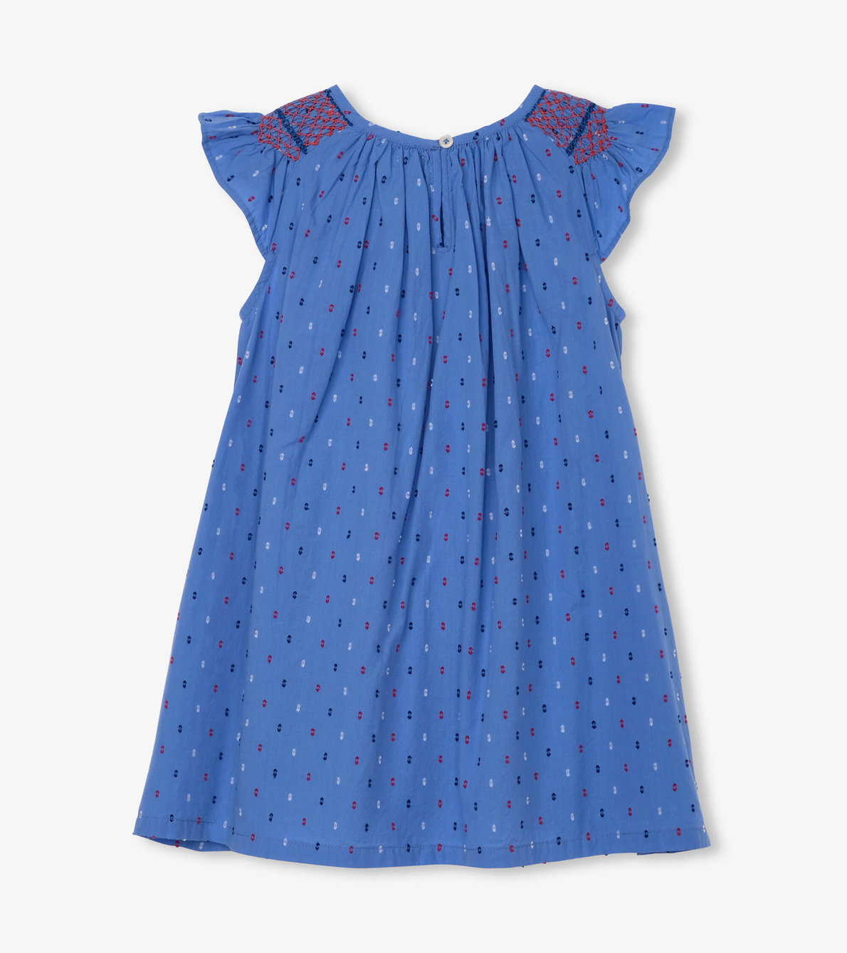 View larger image of Nautical Swiss Dots Smocked Dress