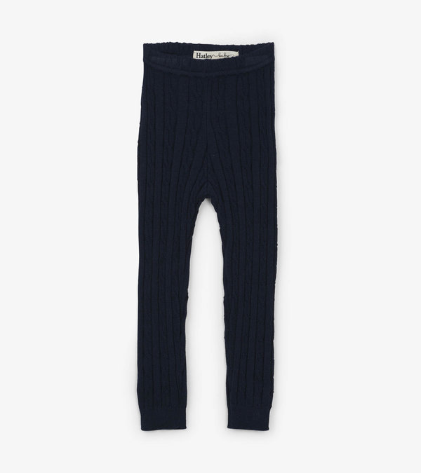 Navy Cable Knit Baby Tights