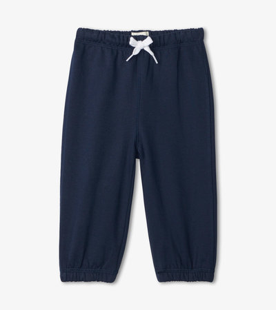 Navy French Terry Baby Joggers