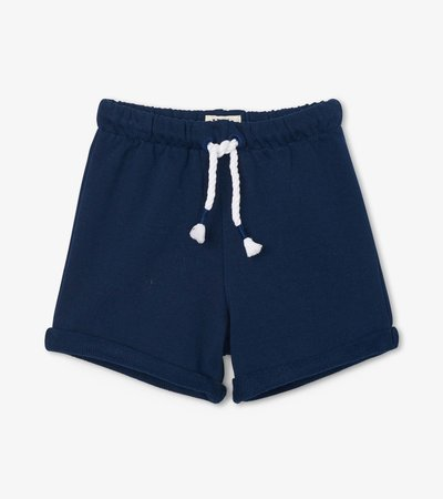 Navy French Terry Baby Shorts