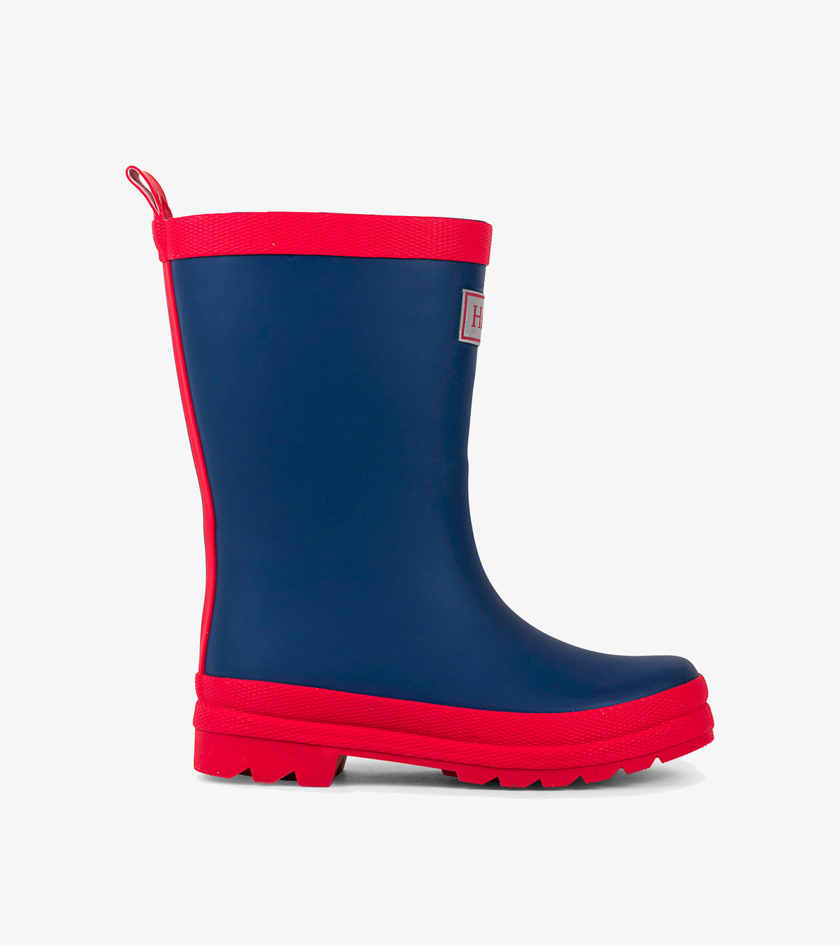 View larger image of Navy & Red Matte Rain Boots