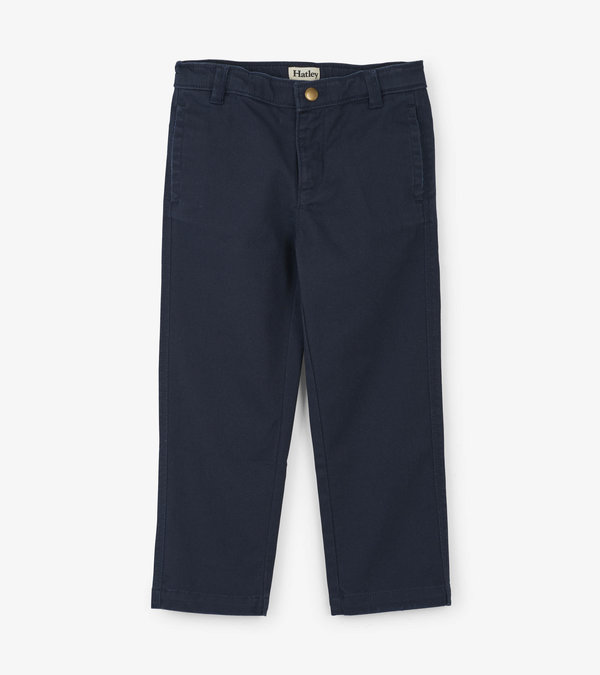 Navy Stretch Twill Pants