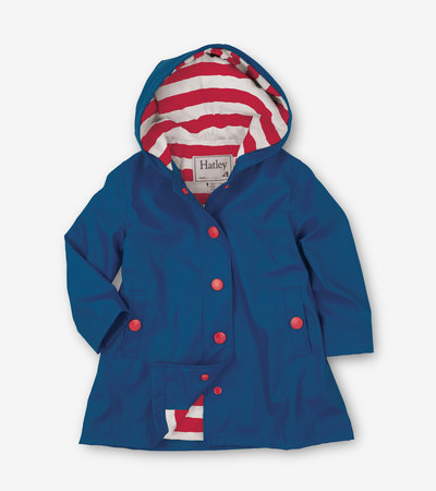 Navy with Red Stripe Lining Splash Jacket