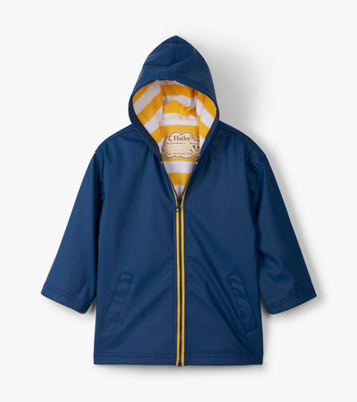 Navy with Yellow Stripe Lining Splash Jacket