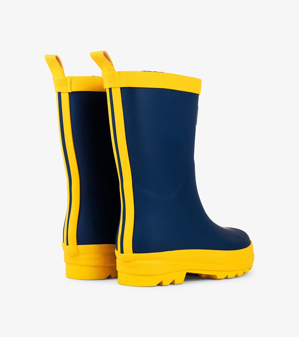View larger image of Navy & Yellow Matte Rain Boots