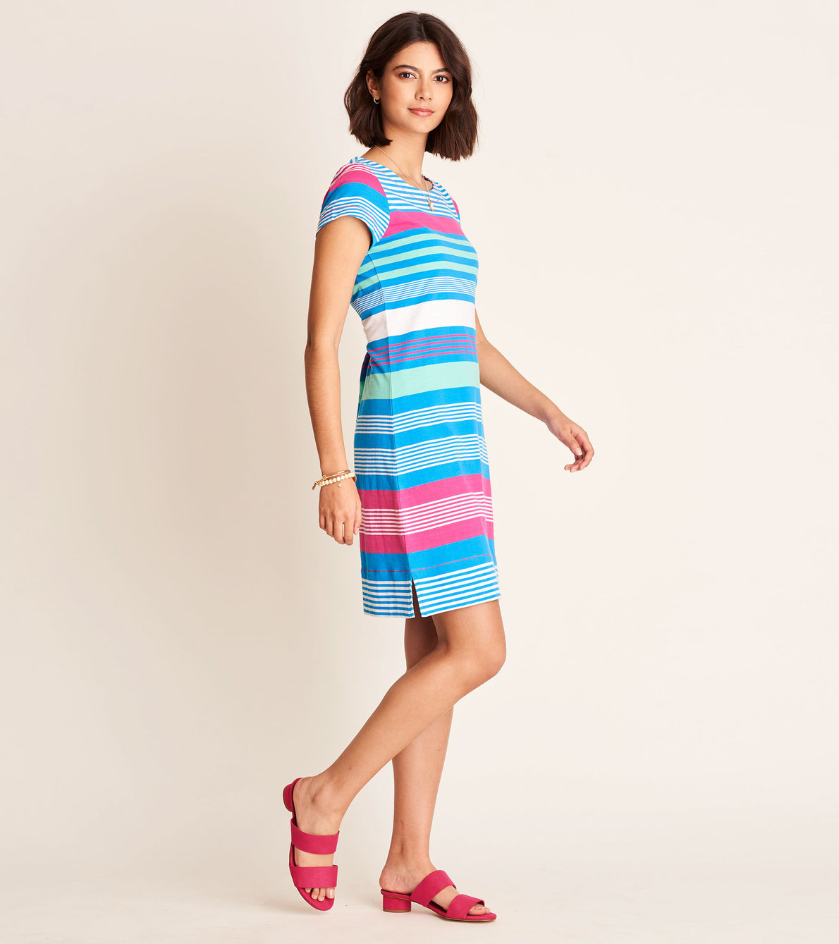 View larger image of Nellie Dress -  Bermuda Stripes