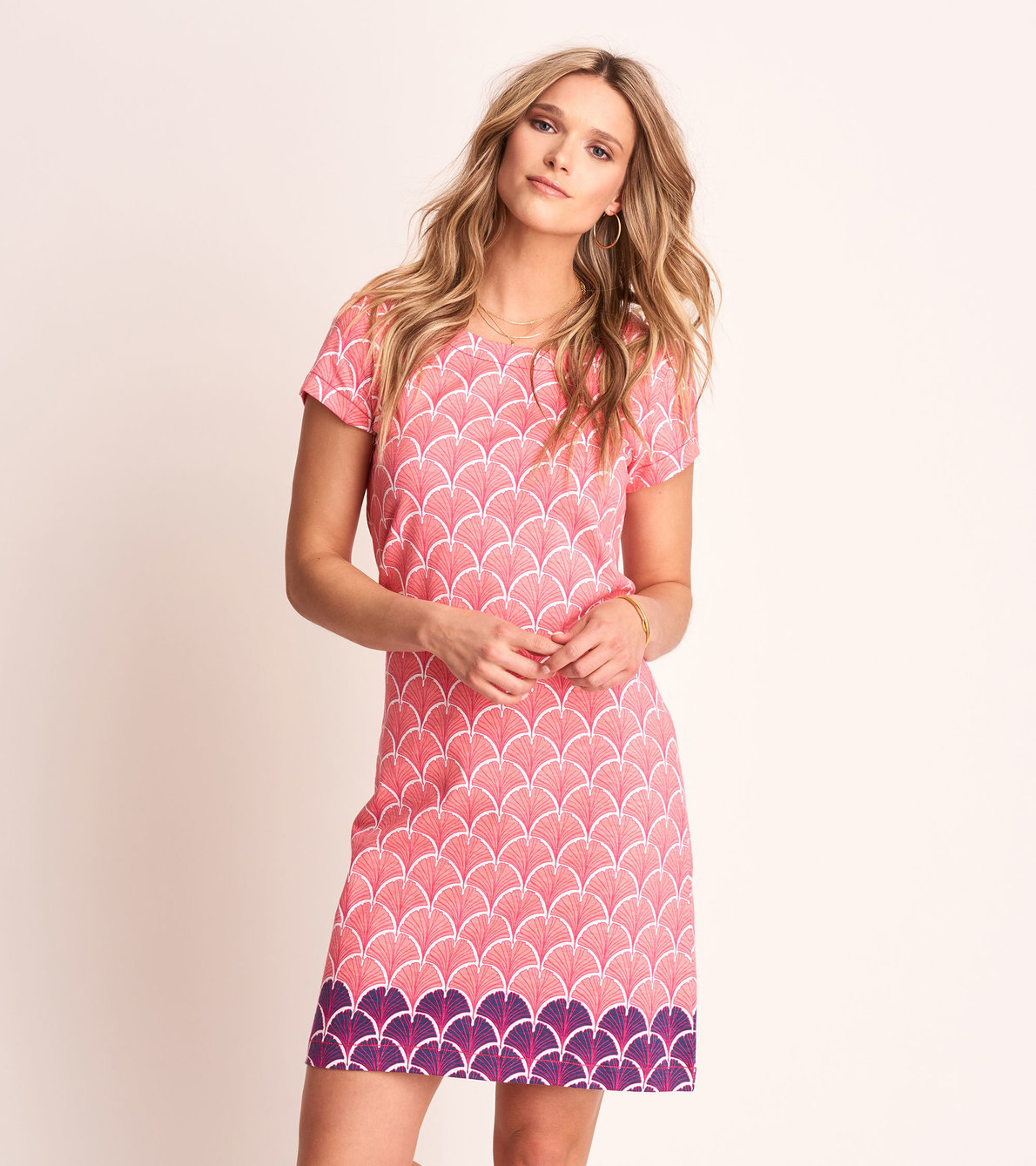 View larger image of Nellie Dress - Coral Fans