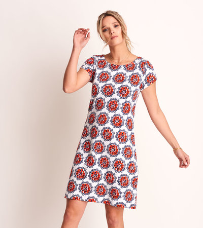 Nellie Dress - Painted Poppies