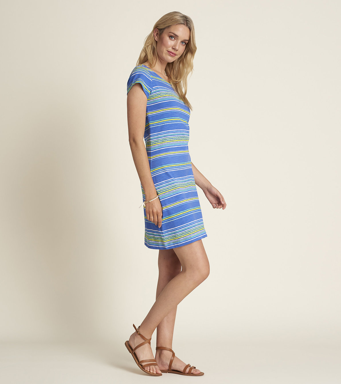 View larger image of Nellie Dress - Textured Stripes