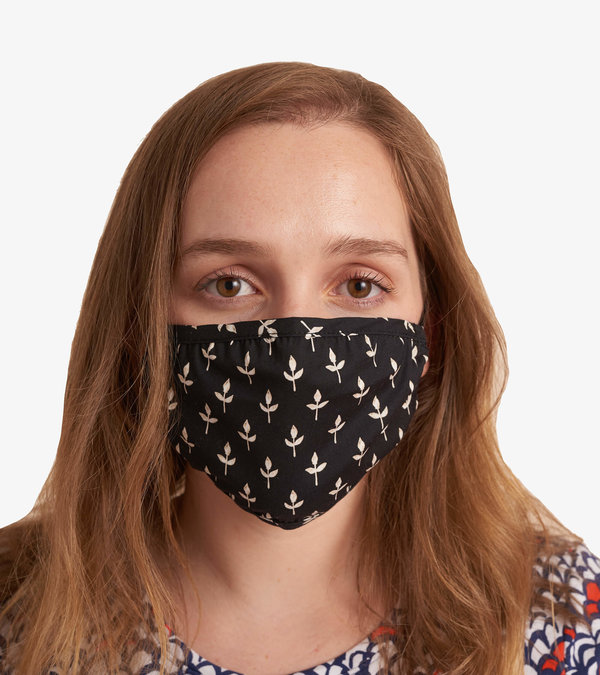 Non-Medical Reusable Adult Face Mask - Black Tiny Buds