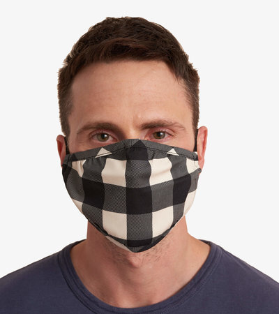 Non-Medical Reusable Adult Face Mask - Cream Buffalo Plaid
