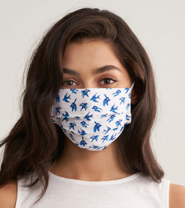 Non-Medical Reusable Adult Face Mask - Ditsy Birds