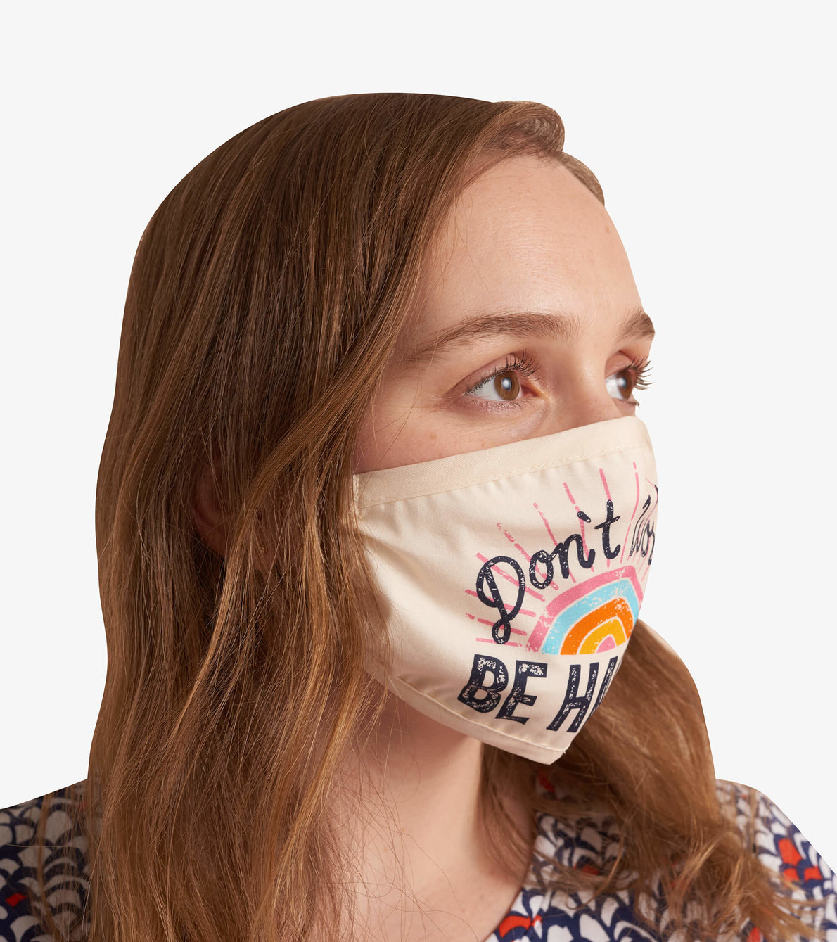 View larger image of Non-Medical Reusable Adult Face Mask - Don't Worry Be Happy
