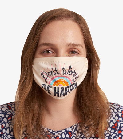 Non-Medical Reusable Adult Face Mask - Don't Worry Be Happy