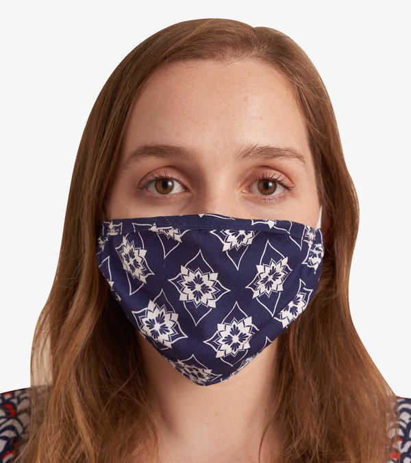 Non-Medical Reusable Adult Face Mask - Geometric Flowers