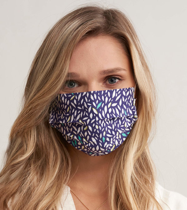 Non-Medical Reusable Adult Face Mask - Navy Diamond Dots