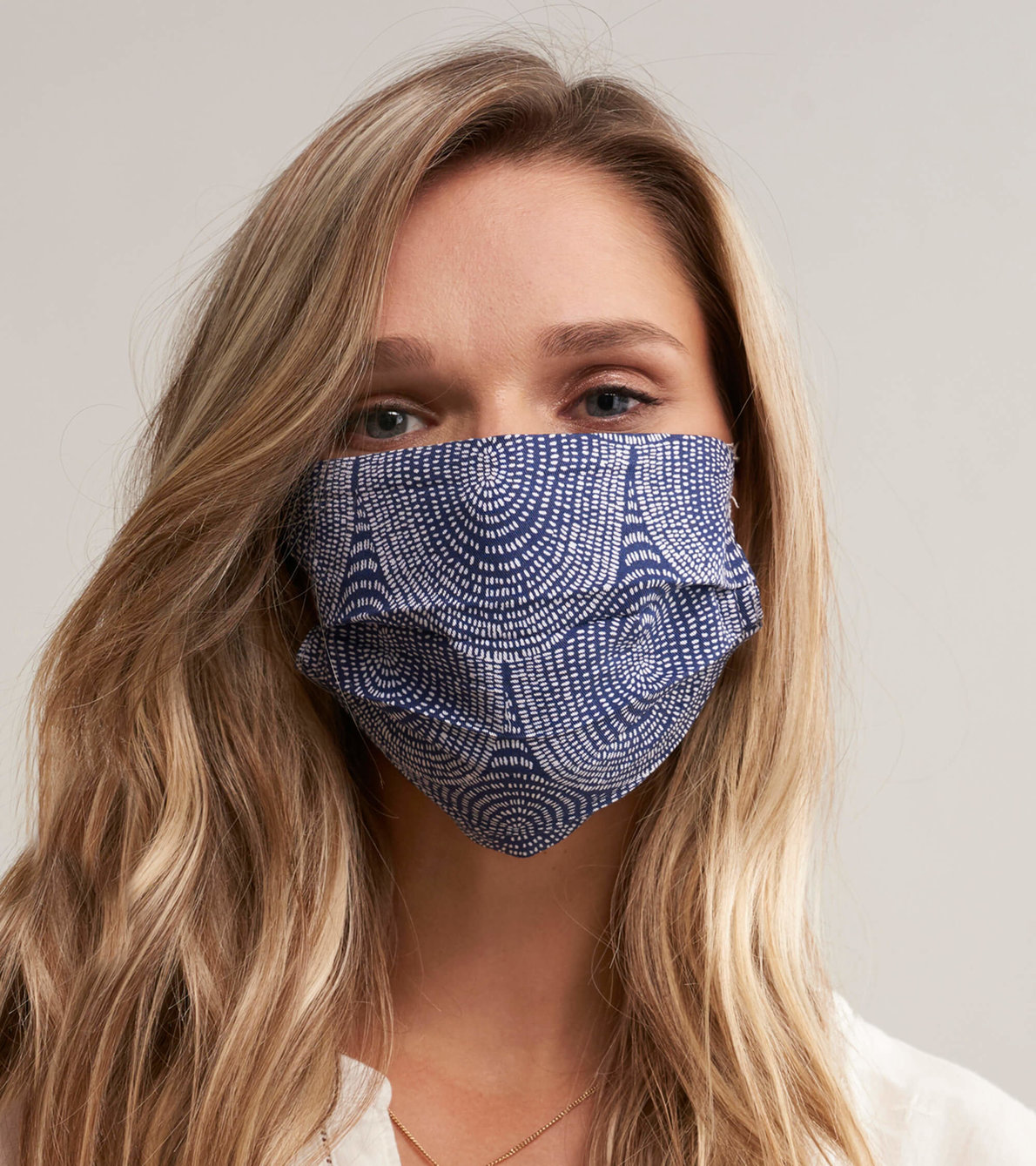 View larger image of Non-Medical Reusable Adult Face Mask - Navy Scallops