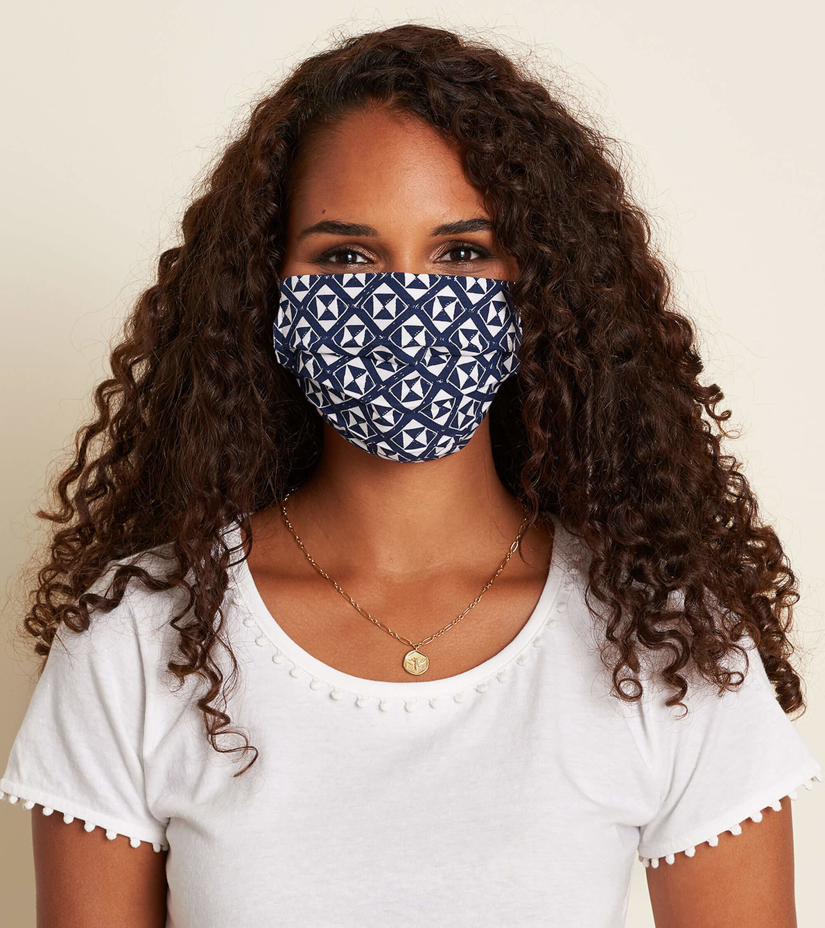 View larger image of Non-Medical Reusable Adult Face Mask - Navy Triangles