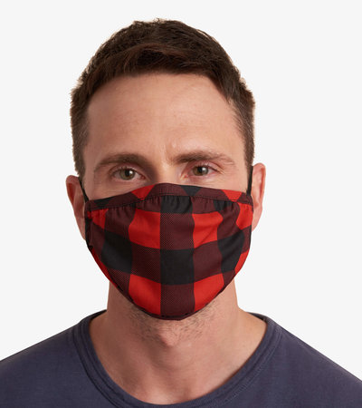 Non-Medical Reusable Adult Face Mask - Red Buffalo Plaid