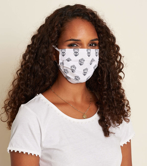 Non-Medical Reusable Adult Face Mask - Shadow Flowers