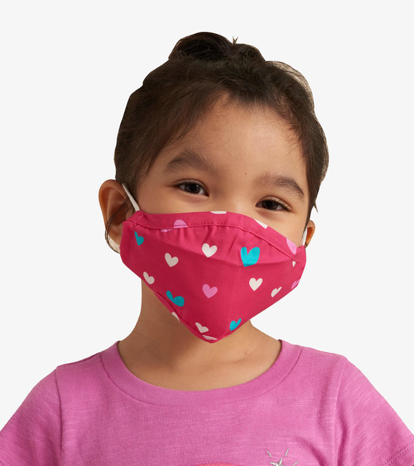 Non-Medical Reusable Toddler Face Mask - Lovely Hearts